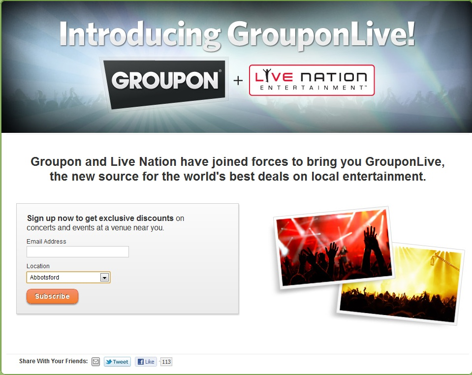 Groupon, Ticketmaster team for bargain ticket site | Chris