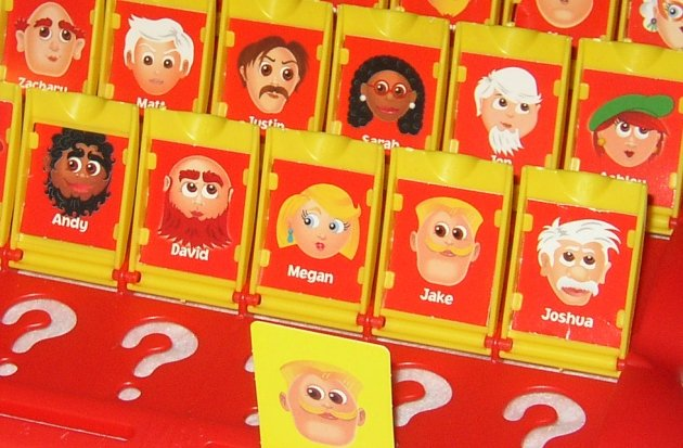 Hasbro Board Game    Guess Who     With Her Brothers  She Noticed