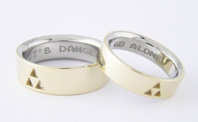 Show your Nintendo love with these Zelda wedding rings Chris